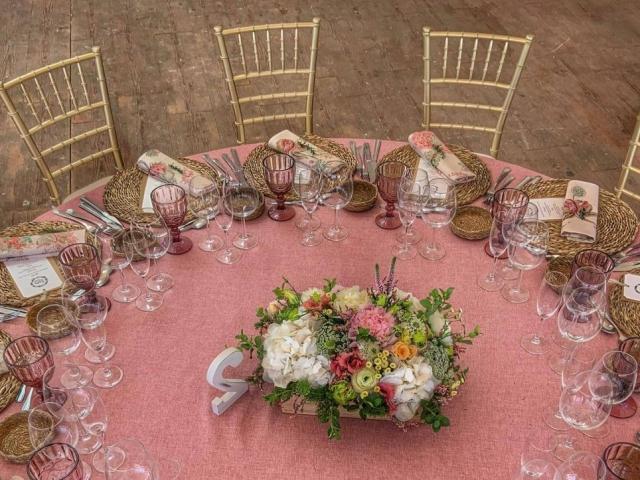 Centro de flores para mesa boda