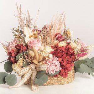 Cesto flores preservadas Edén