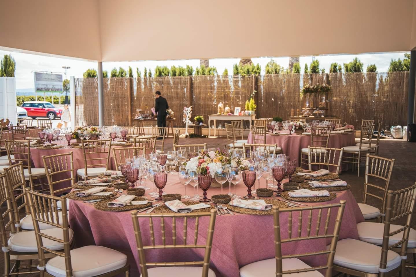 Flores para salon de bodas