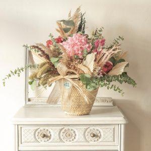 Cesto flores preservadas Palma