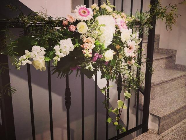 Decoración escalera para boda