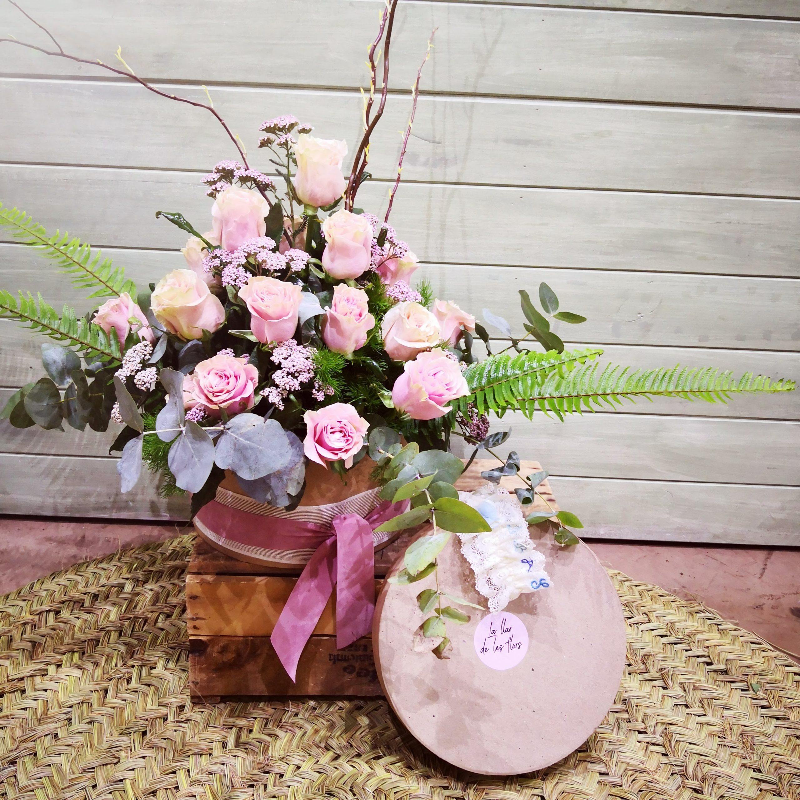 Caja de flores para decorar