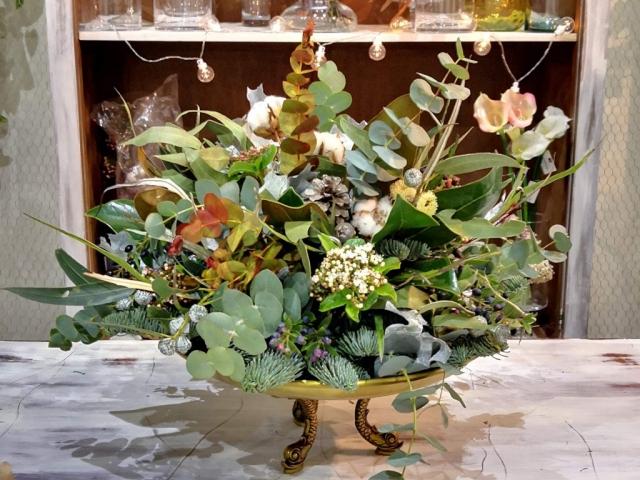 Centro de flores siempreviva
