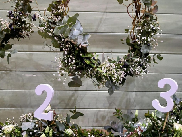 Colgantes con flores para decorar