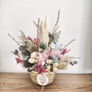 Cesto flores preservadas Minipop