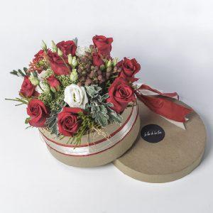 Caja de rosas rojas Ami