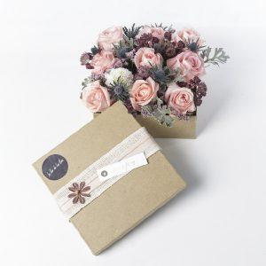 Caja de Rosas rosa y blancas Peckoubo