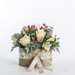 Caja de rosas champagne Avalanche